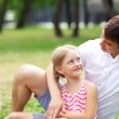 Father and daughter in the park — Stock Photo #13469660