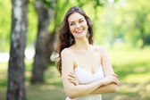Young woman outdoor — Stockfoto