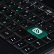 Speaker Icon on Computer Keyboard — Stock Photo