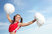 Young female cheerleader — Fotografia Stock