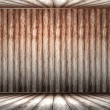 Wooden panel wall interior... - Stock Photo