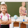 Little girl at school class — Stock Photo #13528477