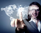 Internet concept of global technology — Stock Photo
