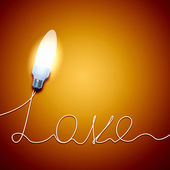 Love Light Bulb — Stock Photo
