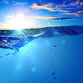 Sundown deniz manzarası — Stok fotoğraf