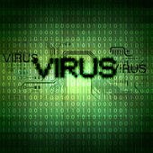Computer virus symbol — Stock Photo