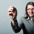 Internet concept of global technology — Stock Photo #13635427