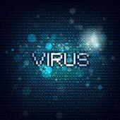 Símbolo de virus informáticos — Foto de Stock