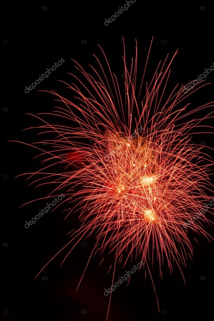 Colorful fireworks on the black sky background — Stock Photo #13635737