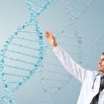 DNA strand illustration — Stock Photo