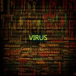 Stock Photo: Computer virus symbol