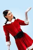 Hezká santa girl — Stock fotografie