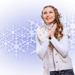Young woman wearing warm sweater — Stock Photo #13840206