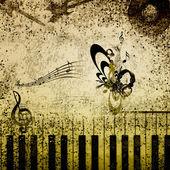 Fond de notes de musique — Photo