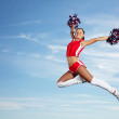 Young female cheerleader — Stock Photo