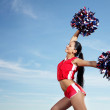 Young female cheerleader — Stock Photo #14040483