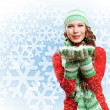 Young woman wearing warm sweater — Stock Photo #14040535
