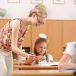 Teacher at school — Stock Photo