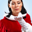 Stock Photo: Pretty santa girl