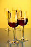 Glasses with wine — Stock Photo