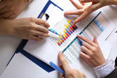 финансовые документы на стол — Стоковое фото