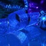 collage de Noël bleu — Photo