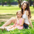 Mother and daughter in the park — Stock Photo #14343165