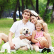 Happy family having fun outdoors — Stock Photo #14343269