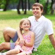 Father and daughter in the park — Stock Photo