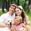 Happy family having fun outdoors — Stock Photo #14343771