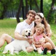 Happy family having fun outdoors — Stock Photo #14344171