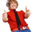Stock Photo: Happy smiling young man dancing