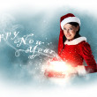 Beautiful girl in santa costume — Stock Photo #14563347