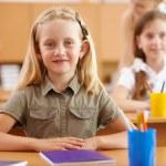 Little girl at school class — Stock Photo #14563367