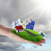 Ecology and safe energy — Stock Photo