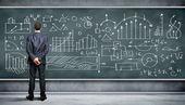 黒板に対する事業者 — ストック写真