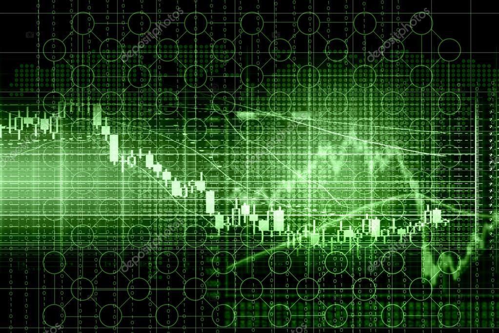 Business graph with arrow showing profits and gains — Stock Photo #14696581