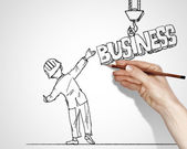 Drawing about success in business — Stock Photo