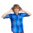 Happy smiling young man dancing — Stock Photo #15588469