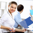 Young business working together — Stock Photo #15589307