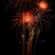 Brightly colorful fireworks — Stock Photo #15589591