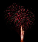 Brightly colorful fireworks — Stock Photo