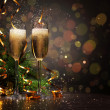 Glasses of champagne at new year party — Stock Photo #15773779
