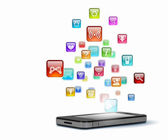 Mídia de tecnologia moderna — Foto Stock