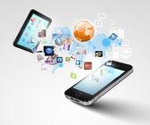 Tecnologia da comunicação moderna — Foto Stock