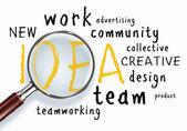 Idea concept. word collage — Stock Photo