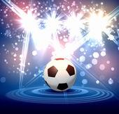 Black and white soccer ball — Stock Photo