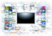 A flat screen television — Foto de Stock