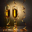 Glasses of champagne at new year party — Stock Photo #16016439
