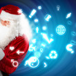 Christmas theme with santa — Stock Photo #16016559